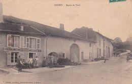 CPA (54) CREPEY Route De Toul Restaurant Boucherie Charcuterie LHUILLIER (2 Scans) - Autres Communes
