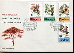 Rhodesia Rodesien Mi# 184-7 Set On Official FDC - Salisbury - Flora Trees - Rhodesia (1964-1980)
