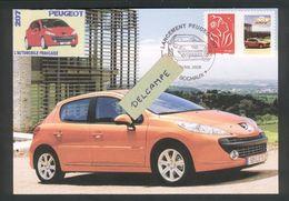 Marianne Du 14 Juillet Personnalisée Peugeot 207 Sur Carte Maximum Du Lancement De La 207 - Personalizzati