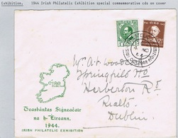 Ireland 1944 IRISH PHILATELIC EXHIBITION OCT 1944 Cds For 4 NO On Exhibition Envelope, Stains - 1937-1949 Éire