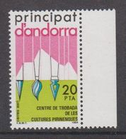 Andorra Sp. 1984 Trobada Cultures Pirinenques 1v  ** Mnh (48116C) - Ideas Europeas