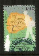 EUROPA 2020.Antiguas Rutas Postales A Andorra, Mapa De Andorra. 1ra Calidad. AND.ESP. - Andorra Española