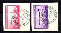 Liechtenstein Poste Aérienne YT N° 15/16 Oblitérés. B/TB. A Saisir! - Air Post