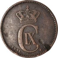 Monnaie, Danemark, Christian IX, 2 Öre, 1891, TB+, Bronze, KM:793.1 - Denemarken