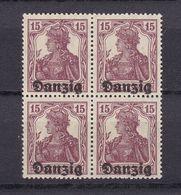 Danzig - 1920 - Michel Nr. 3 Viererblock - Postfrisch - 30 Euro - Danzig