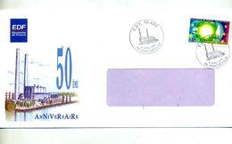 Lettre Cachet Porcheville 50 Ans Edf - Marcophilie (Lettres)