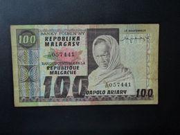 MADAGASCAR * : 100 FRANCS = 20 ARIARY    ND     P 63a     TTB+ - Madagascar