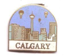 E06 Pin's Montgolfière Ballon Qualité Egf CALGARY Canada Superbe Achat Immédiat - Montgolfières