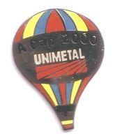 E04 Pin's Montgolfière Balloon Unimetal Cap 200 Qualité Egf Signé Tosca Achat Immédiat - Montgolfières