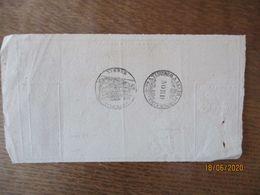 LOUVIGNIES LE 27 9bre 1858 RECU DE M. GRAVIS AIME CACHETS A TIMBRER A LEXTRAORDINAIRE  NORD ET TIMBRE IMPERIAL 35 CEN - Steuermarken