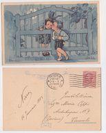 Adolfo Busi - Bambini Bacio, Dichiarazione D'amore, Declaration, Amoreux, Romantique, Enfants,baiser, 1923 - Busi, Adolfo