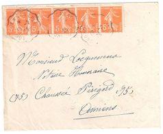 BRIOUDE Haute Loire Lettre Recommandée 2F Gandon Vert  Yv 713  Étiquette Reco - Covers & Documents