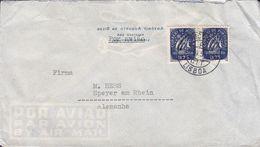 Portugal ANTÓNIO AUGUSTO DA SILVA, LISBOA 1951 Cover Letra SPEYER A. Rh. Germany 2x 1.75 E Ships Schiffe Karavelle - 1910-... Republic
