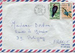 NOUVELLE-CALEDONIE LETTRE PAR AVION DEPART NOUMEA 9-7-1970 NOUVELLE-CALEDONIE POUR LA FRANCE - Cartas