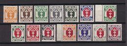 Danzig - 1921 - Michel Nr. 73/86 - Postfrisch/Ungebr. M. Falz - Danzig
