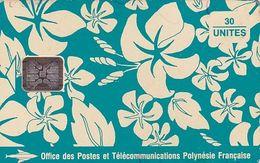 FRENCH POLYNESIA - Pareo Bleu 30 Unites, CN : C41100729, Tirage %20000, 10/93, Used - Polynésie Française