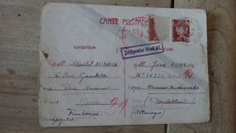 Carte Envoyee De Pont Audemer FRANCE Au Camp Lager  Weimar BUCHENWALD En 1944, Ecrite En Allemand - Marcophilie (Lettres)