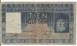 PAYS-BAS 10 GULDEN 1939 VG P 49 - [2] 1815-… : Kingdom Of The Netherlands