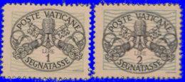 Vatican Taxe 1945. ~ T 10/11** - Pontificat De Pie XII - Postage Due