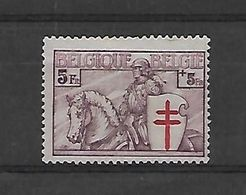 België  N° 400 (x) ZONDER GOM - Belgique