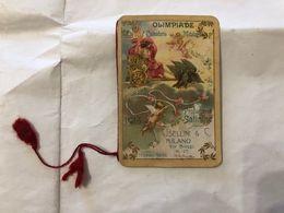 CALENDARIETTO DA BARBIERE OLIMPIADE CALENDARIO MITOLOGICO PROFUMERIE SATININE PELLEGATA 1913 - Calendriers