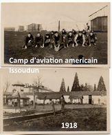 2 Photographie Originales Rares Camp D'aviation Américain Issoudun (Indre, 36) 1918 WWI - Aviazione