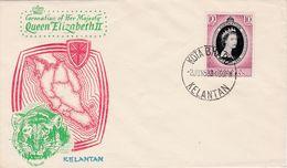 Malaisie Malaya Kelantan 1953 Coronation Queen Elisabeth II Fdc - Kelantan