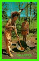 INDIEN - CHIPPEWA INDIAN PARCHING WILD RICE -  CURTICHCOLOR - - Native Americans