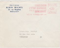 EMA France 1965 Littérature Prix Goncourt Conchon L'Etat Sauvage Albin Michel - EMA (Printer Machine)