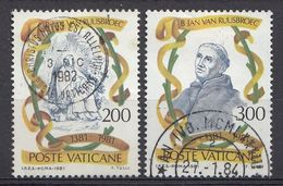 Vatikaan 1981  Mi.nr. 789-790 Todestag Von Johannes Van Ruusbroec   OBLITÉRÉS-USED-GEBRUIKT - Vatican
