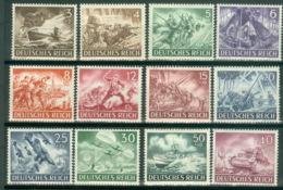 Deutsches Reich 831/42 ** Postfrisch - Germania