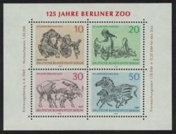 Berlin Pelican Birds Zebra Bison Monkeys 125th Anniversary Berlin Zoo MS MNH SG#MSB332 - [5] Berlino