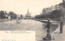 METZ (57-Moselle) Chemin De Balage Près De L'esplanade - Pêcheur-Pêche - Editions NELS, Metz Série 104 N° 235 - 2 SCANS - Metz