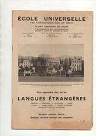 Livret école Universelle Par Correspondance De Paris Pour Apprendre Chez Soi Les Langues étrangères - Libros, Revistas, Cómics