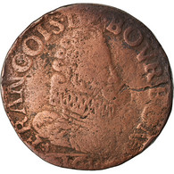 Monnaie, FRENCH STATES, CHATEAU-RENAUD, François De Bourbon, Liard, 1614, TB - 476-1789 Monnaies Seigneuriales