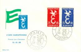 Frankreich 1210/11 FDC CEPT 1958 - Europa-CEPT