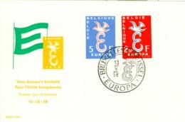 Belgien 1117/18 FDC CEPT 1958 - Europa-CEPT