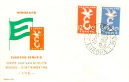 Niederlande 718/19 FDC CEPT 1958 - Europa-CEPT