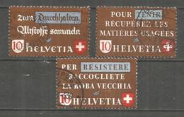 Switzerland 1942 Year , Used Stamps Mi # 405-7 - Svizzera