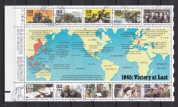 USA 1995 END OF 2nd WORLD WAR, VICTORY  (MI BL 37) BLOCK USED/CANCELLED (o) - Blocs-feuillets