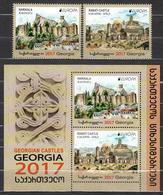 "GEORGIA / GEORGIEN.-  EUROPA 2017 -""CASTILLOS - CASTLES - SCHLÖSSER"".- SERIE + HOJITA BLOQUE / SET + SOUVENIR SHEET - 2017"