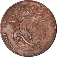 Monnaie, Belgique, Leopold I, 5 Centimes, 1852, TTB, Cuivre, KM:5.1 - 1831-1865: Leopold I