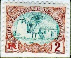 Cote Des Somalis 1902 Mosquée 2c  YT 38 - Französich-Somaliküste (1894-1967)