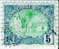 Cote Des Somalis 1902 Mosquée 5c  YT 40 - Französich-Somaliküste (1894-1967)