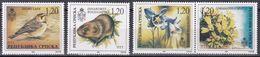 Tr_ Bosnien Herzegowina (Serbische Republik) 1996 - Mi.Nr. 39 - 42 - Postfrisch MNH - Tiere Animals Vögel Birds Flora - Sellos