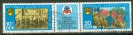DDR 2426/27 Dreierstreifen O Tagesstempel - DDR