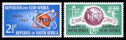 South Africa, 1965, ITU Centenary, International Telecommunication Union, United Nations, MNH, Michel 344-345 - Zonder Classificatie