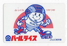 JAPON TELECARTE DESSIN PATINS à ROULETTES - Telefonkarten