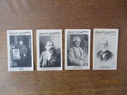 4 IMAGES CHOCOLAT CARPENTIER COLIN PEINTRE,CARRIER-BELLEUSE PEINTRE,GEROME PEINTRE SCULPTEUR,CAVELIER SCULPTEUR FRANCAIS - Chocolate