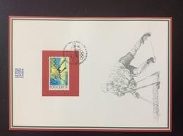 Feuillet Commémoratif 1998 NL32 Jeux Olympiques Hiver De Nagano Ice Hockey Sur Glace - Otros